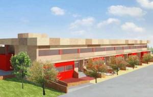 proyecto de fachada del nuevo colegio