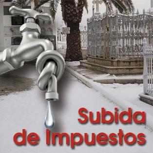 Los impuestos del agua y cementerio subirán un 5%